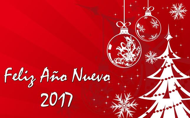 Tarjetas sencillas para desear feliz año 2017