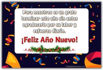 Bonitos Mensajes de Año Nuevo para Trabajadores