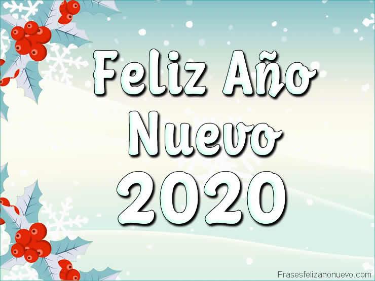 Felicitaciones de año nuevo 2020