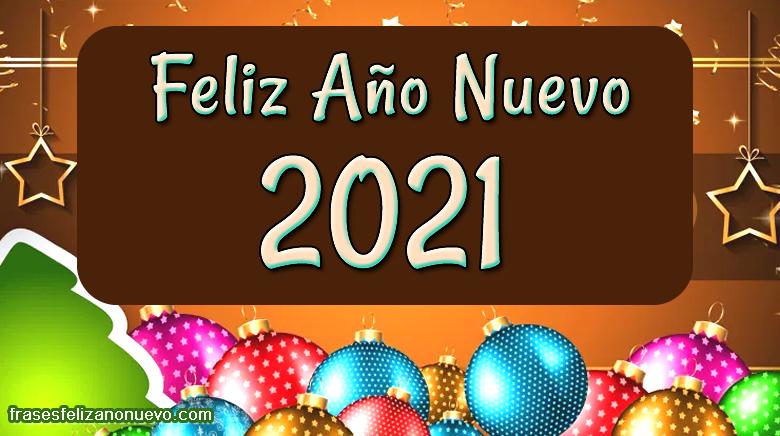 Felicitaciones de año nuevo 2021 para amigos