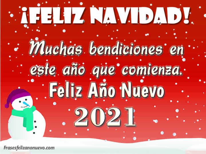 Tarjetas para Felicitar la llegada de Año Nuevo 2021